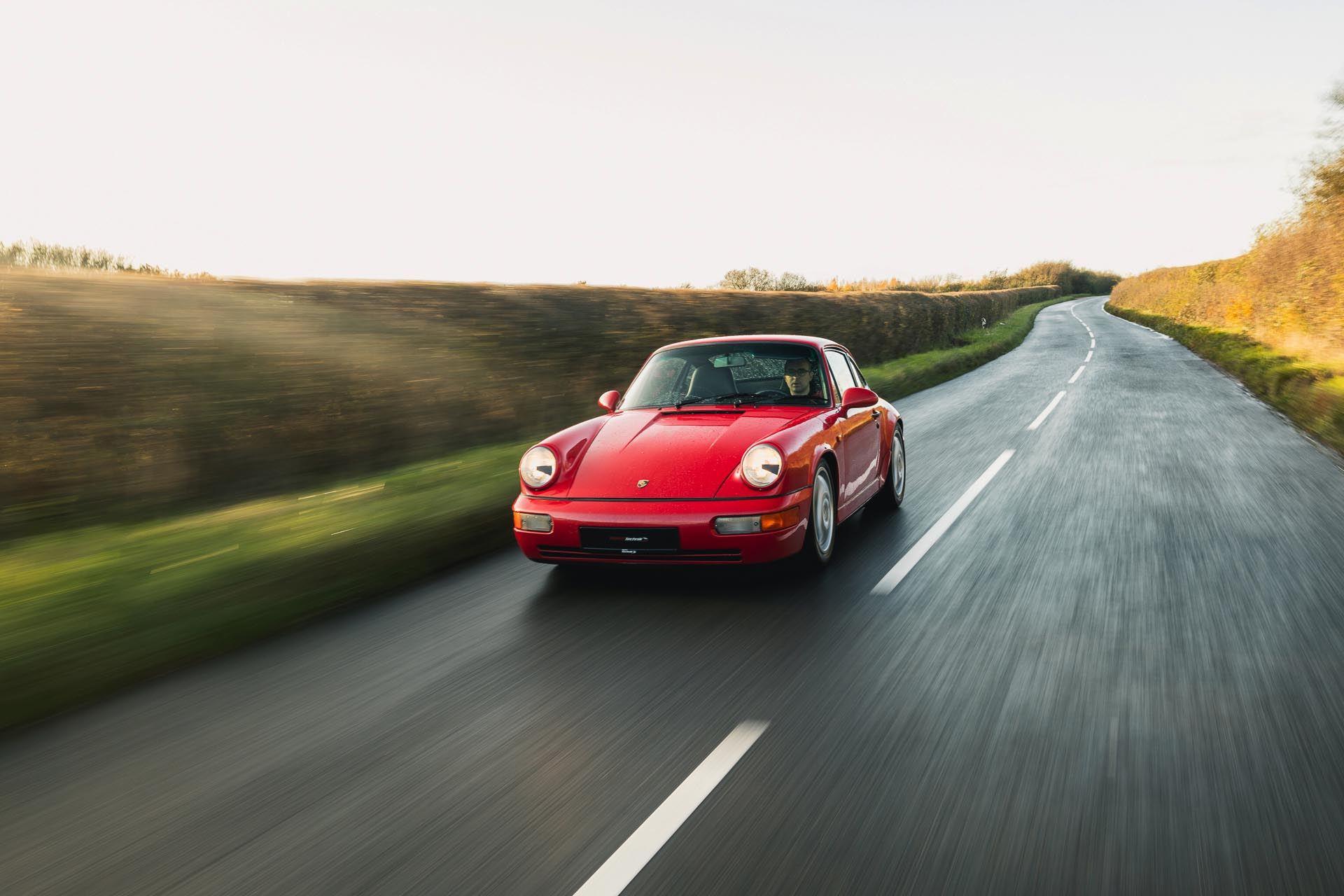 964 carrera rs driving in countryside
