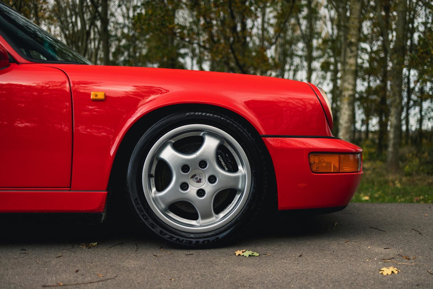 964 carrera rs parked outside