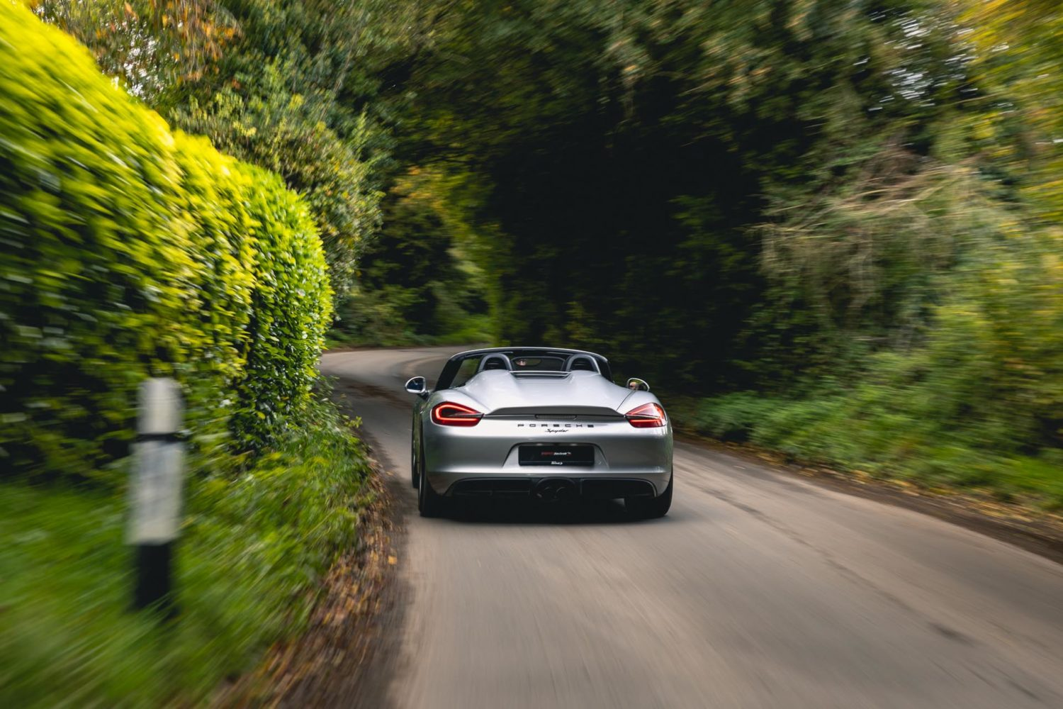 981 boxster spyder driving