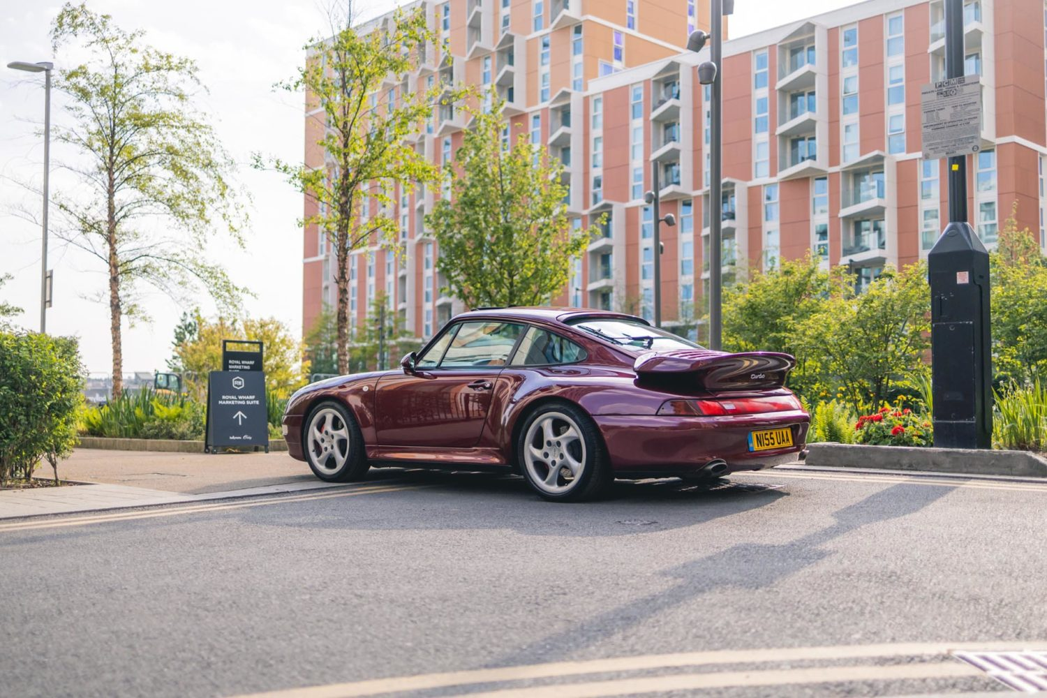 993 turbo parked outside