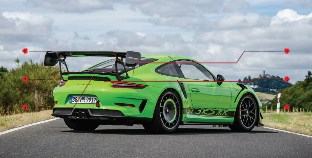 manthey racing gt3rs options rear